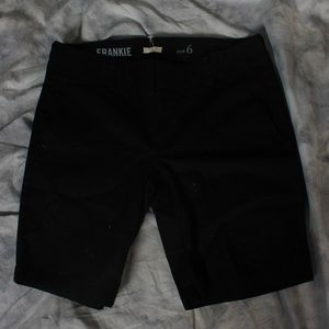 "J. Crew ""Frankie"" black shorts"